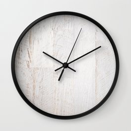 Vintage White Wood Wall Clock