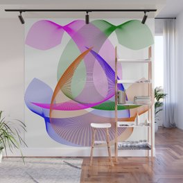 Abstract Colored Lines Wall Mural