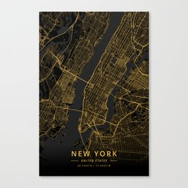 New York, United States - Gold Canvas Print