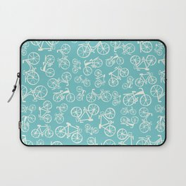 Bikes in a blue background Laptop Sleeve