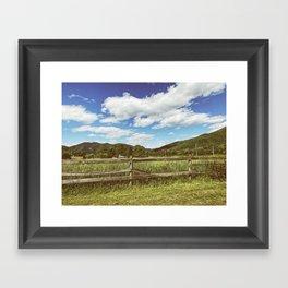 Fencing •Appalachian Trail Framed Art Print