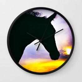 Horse and Sunset - Varina Virginia 2020 Wall Clock