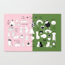 cute cat doodles cats Canvas Print
