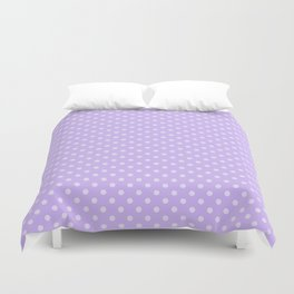 Purple background with polka dot Duvet Cover