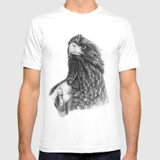 Steller's sea eagle G2013-073 White Mens Fitted Tee MEDIUM