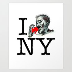 I Zombie Apocalypse New York Art Print