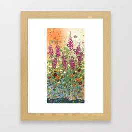 Fireweed in Melon Framed Art Print