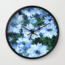 black cumin flowers Wall Clock