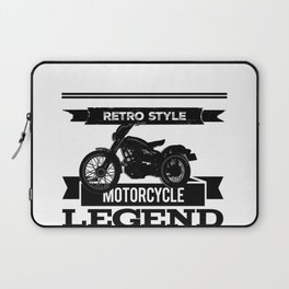 Motorcycle retro legend tshirt logo Laptop Sleeve