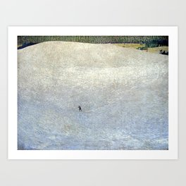 Plight of the Lonely Skier, Snowy Alpine Landscape by Cuno Amiet Art Print