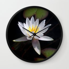 The white nymphaea Wall Clock