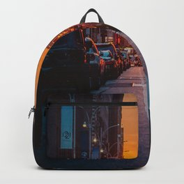 New York City Taxi Sunset (Color) Backpack
