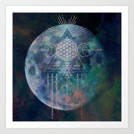 Lunar Goddess Mandala Art Print