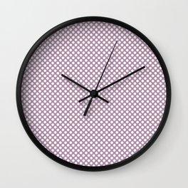 Lavender Herb and White Polka Dots Wall Clock