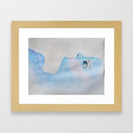 Blue Babe  Framed Art Print
