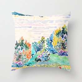 Spring arrived Throw Pillow