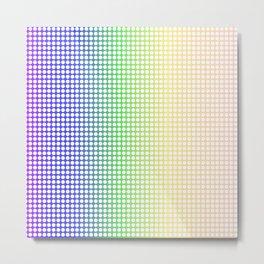 Rainbow Dot Perforations Metal Print