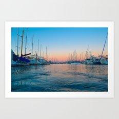 San Diego Sail Art Print