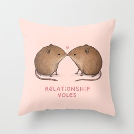 Relationship Voles Throw Pillow