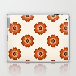 Retro floral flowers pattern minimal 70s style pattern print 1970's Laptop & iPad Skin