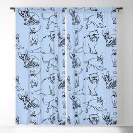 Minimal Black Line Cat Pattern Blackout Curtain