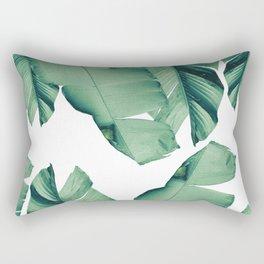 Banana Leaves Tropical Vibes #4 #foliage #decor #art #society6 Rectangular Pillow