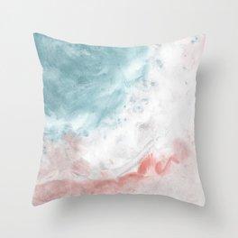 Silky beach Throw Pillow