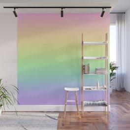 Pastel Rainbow Gradient! Wall Mural