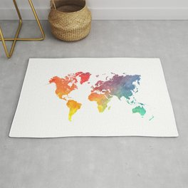 map of the world full of colors Rug