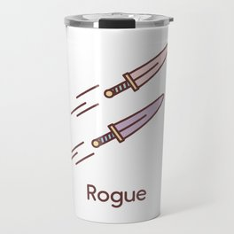 Cute Dungeons and Dragons Rogue class Travel Mug