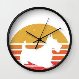 Scottie Dog  - Scottish Terrier  Wall Clock