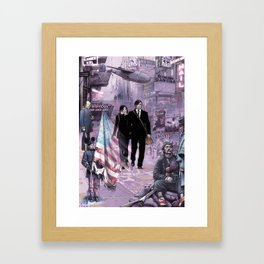Alternate USA Trip Framed Art Print