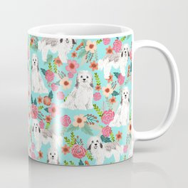 Havanese floral dog breed pure breed dog gifts Coffee Mug