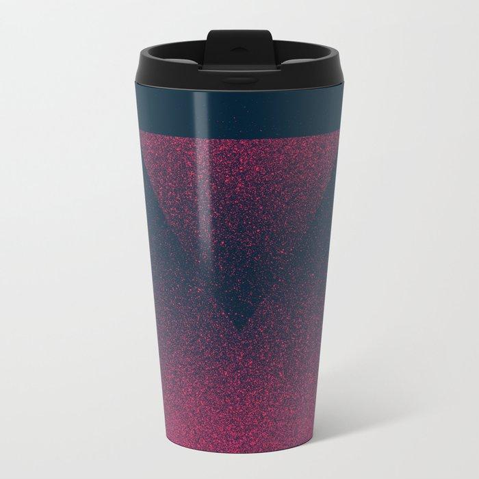 OMBRE / raspberry Metal Travel Mug