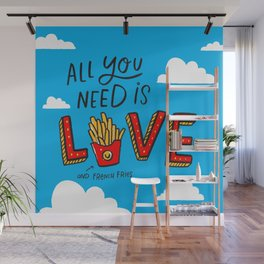 Love and French Fries Wall Mural