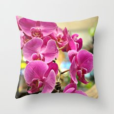 Orchids in Singapore Throw Pillow