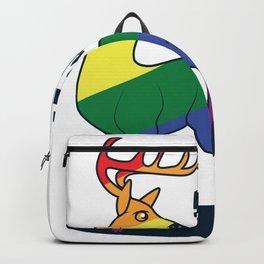 LGBT Funny Deer Deer Nature Gaypride Gift Backpack