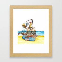 Lazy-Boy Framed Art Print