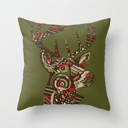 ROAD KILL ~ GREEN Throw Pillow