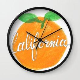 California Orange Wall Clock