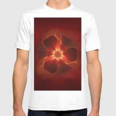 Fire Flower Mens Fitted Tee White MEDIUM