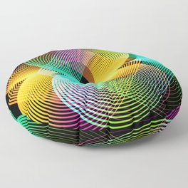 Abstract geometric pop art abstract Floor Pillow