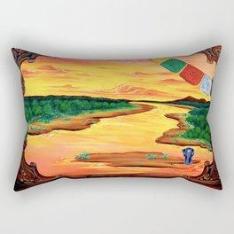 Una finestra sul fiume Rectangular Pillow