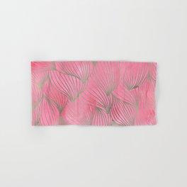 Pretty Pink Palm Petal Print Hand & Bath Towel
