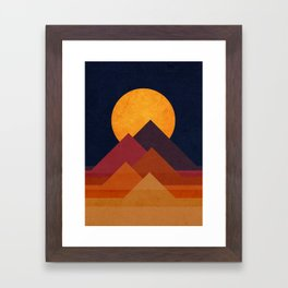 Full moon and pyramid Framed Art Print