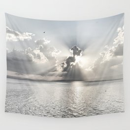 When the sun sets... Wall Tapestry