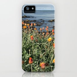 Orange blooms along the Pacific iPhone Case
