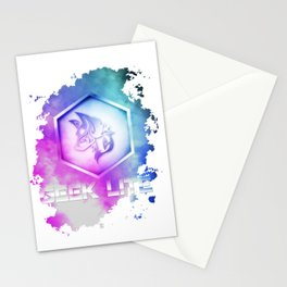 Geek Lite 3 Year Anniversary - Rainbow Style Stationery Cards