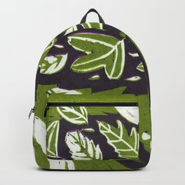 Hedgehog in Autumn Woods - Moss Green Palette Backpack