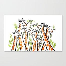 Giraffe Banquet Canvas Print